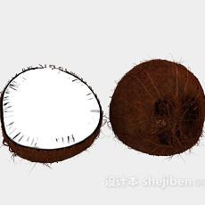 椰子水果3d模型下载