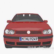 免费红色车辆3d模型下载