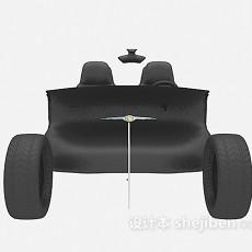 黑色运输车3d模型下载