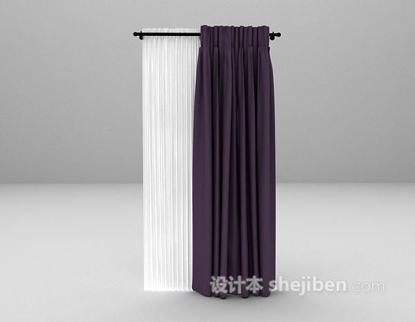 紫色简约窗帘下载