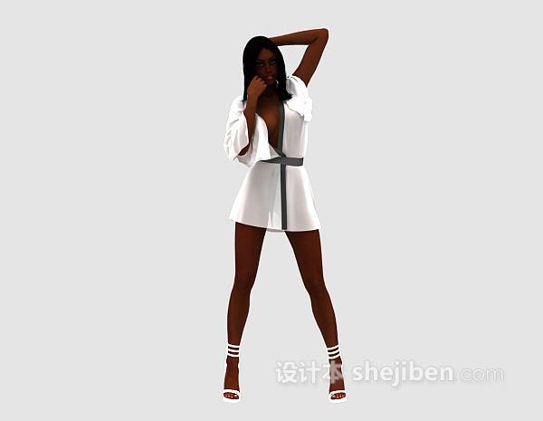 时尚女士3d模型下载