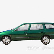 绿色车车3d模型下载