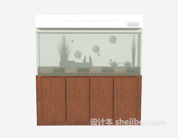 鱼缸3d模型下载