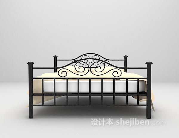 金属床3d模型下载