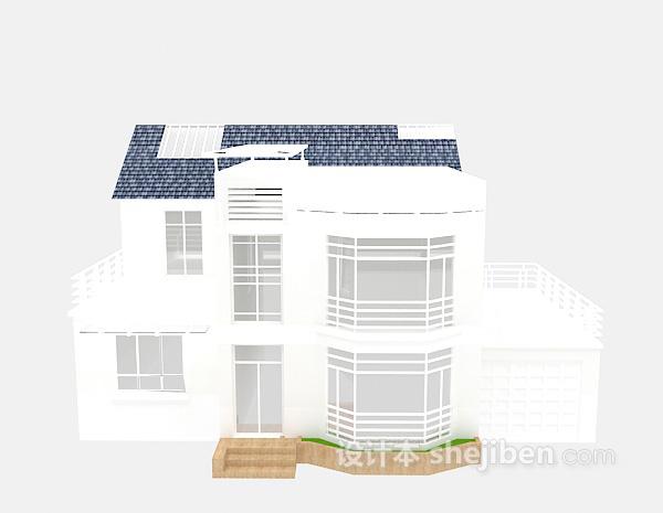 白色别墅3d模型下载免费