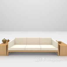 三人木质沙发3d模型下载