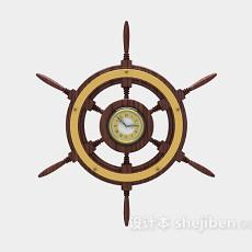船舵型时钟3d模型下载