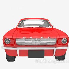红色车辆3d模型下载