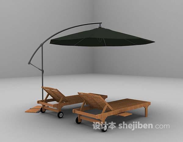 沙滩休闲椅3d模型下载