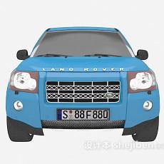 蓝色汽车免费3d模型下载