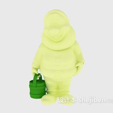 粉刷匠儿童玩具 3d模型下载