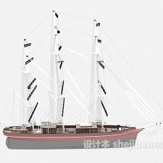 大的帆船3d模型下载