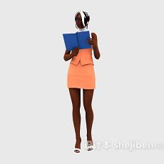 职业女性3d模型下载