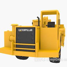 黄色挖掘机3d模型下载
