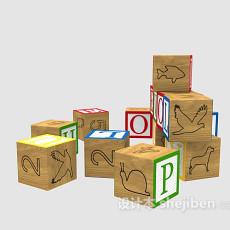 儿童积木玩具3d模型下载
