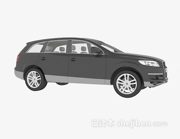 黑色奥迪车辆模型3d模型下载