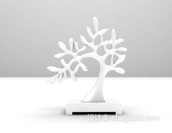白色小摆件3d模型下载