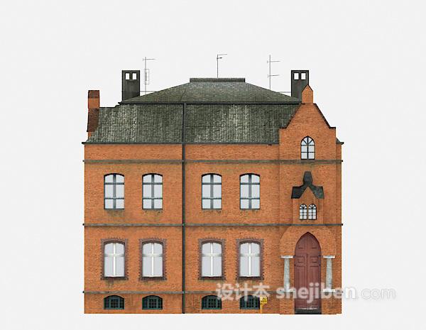 欧式古老别墅3d模型下载