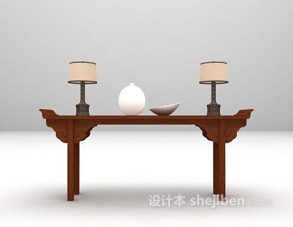 木质厅柜模型下载