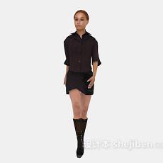 时尚女性3d模型下载