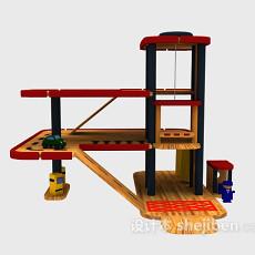 儿童玩具停车场 3d模型下载