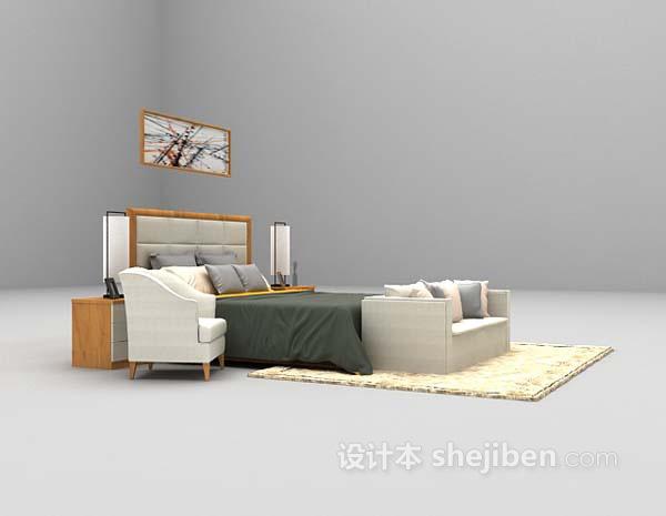 现代风格床具模型欣赏