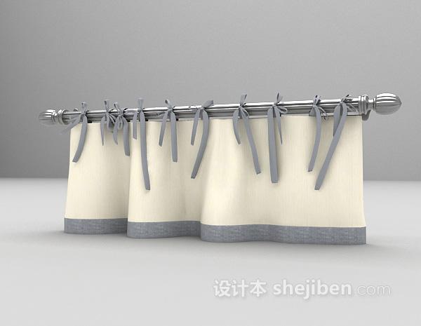 窗帘帘头3dmax窗帘模型下载