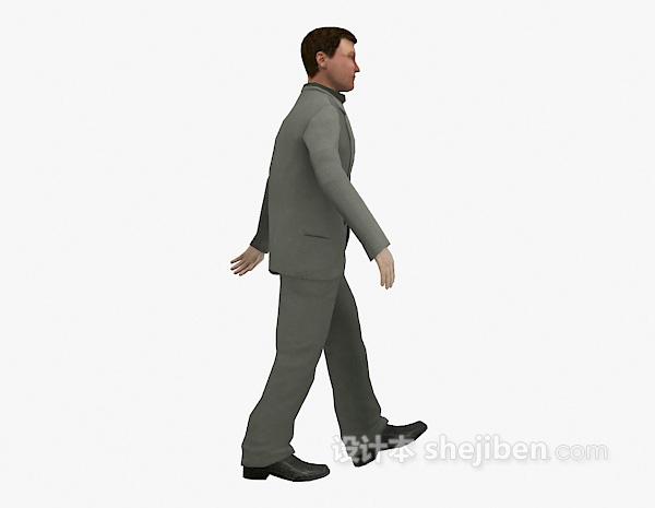 穿西装男人模型下载