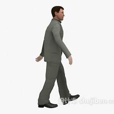 穿西装男人3d模型下载