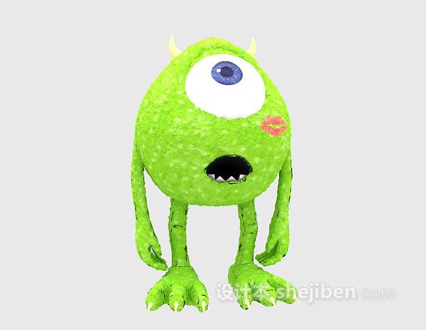 绿色玩具3d模型下载
