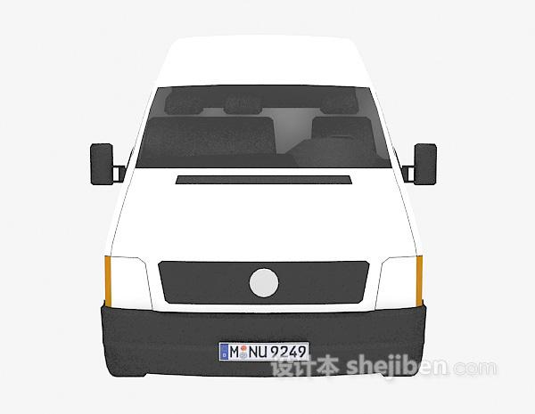 白色大面包车的模型3d下载