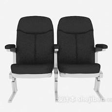 黑色汽车座椅3d模型下载