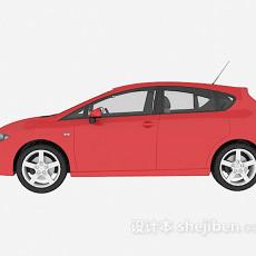 红色车辆免费3d模型下载