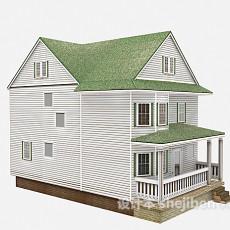 绿色欧式别墅3d模型下载