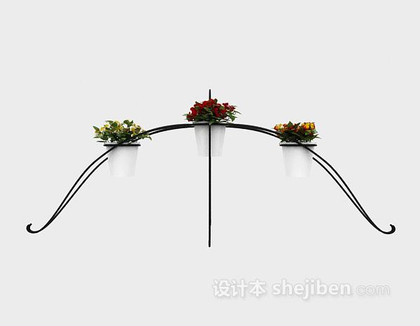 花园盆栽3d模型下载