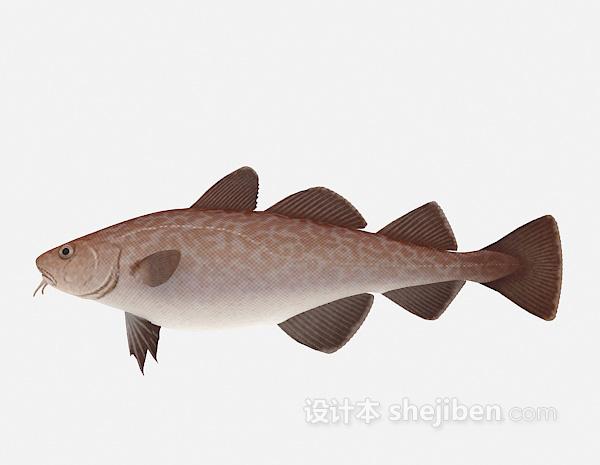 红色的鱼模型3d模型下载