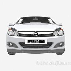 白色max汽车免费3d模型下载