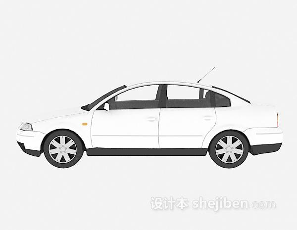 白色车辆模型3d模型下载免费