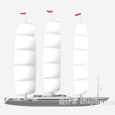 舰艇帆船3d模型下载