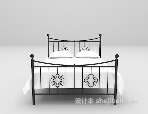 金属床具3d模型下载