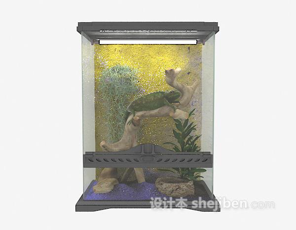 方形玻璃鱼缸3d模型下载