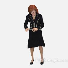 职业装女性3d模型下载