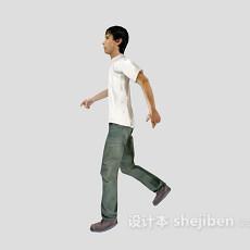 青年男人3d模型下载