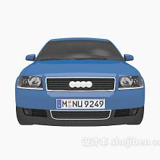 蓝色车车3d模型下载