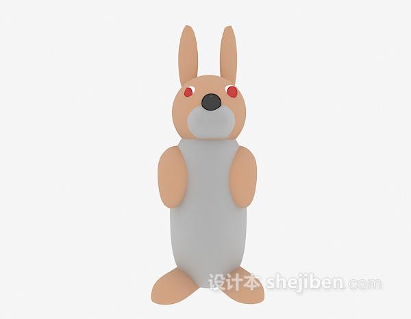 儿童玩具兔子模型3d模型下载