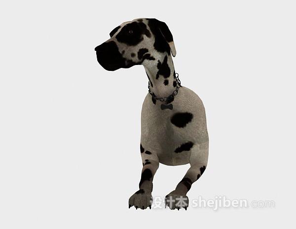 趴着的狗动物模型 3d下载