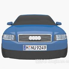蓝色车的车3d模型下载