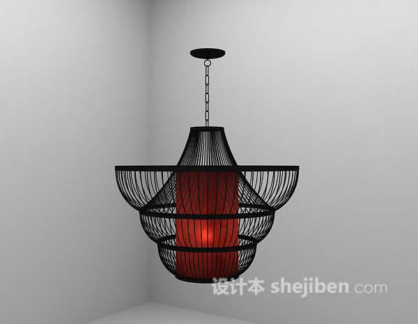吊灯模型下载_复古吊灯3d模型下载-设计本3D模型下载