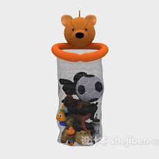 儿童玩具篮子3d模型下载