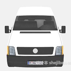 白色车的面包车 3d模型下载